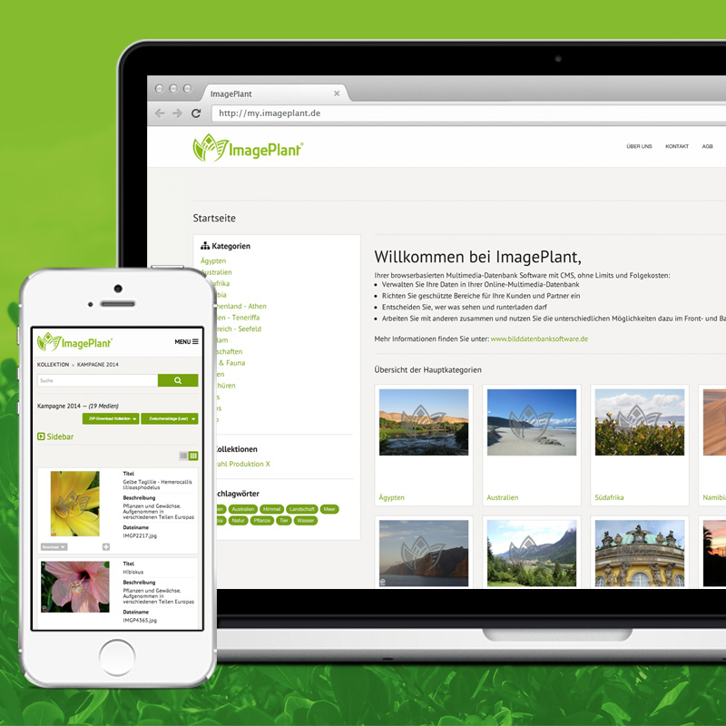 Integriertes Frontend - Full responsive
